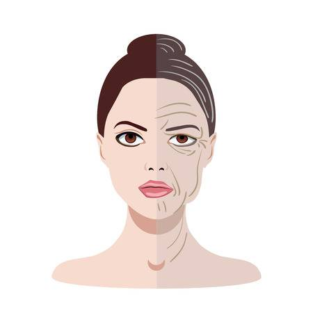 Wrinkled Face Stock Illustrations, Cliparts And Royalty Free ...