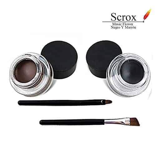 مستحضر تخطيط البشرة Scrox Gel Eyeliner 2 in 1 أسود وبني ...