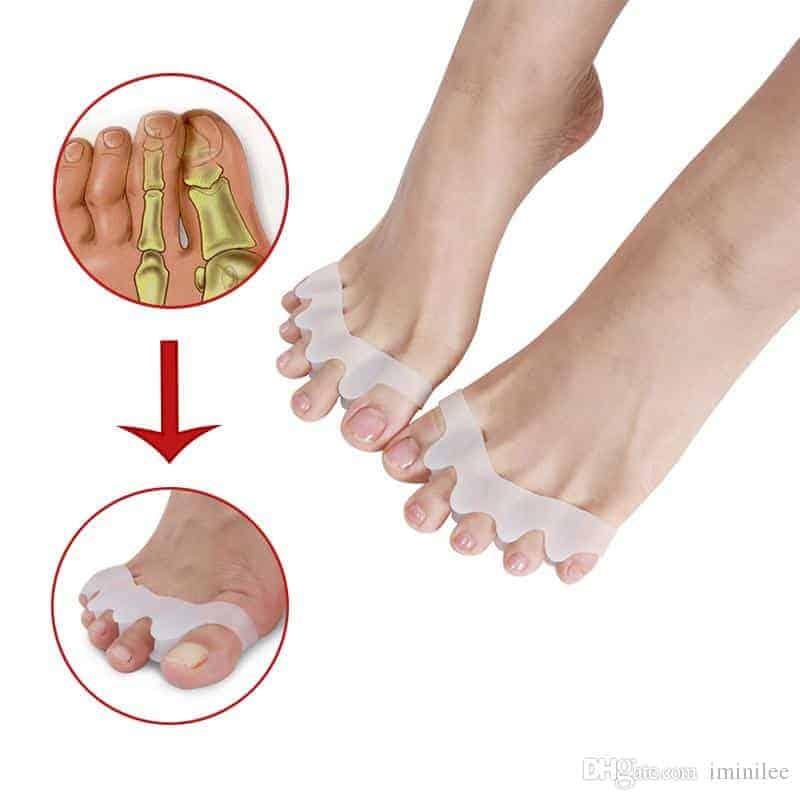 سيليكون مصحح أصابع القدم  مصحح الورم مقسم أصابع القدم