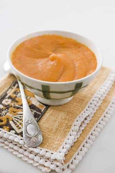 Mascarilla de puré de zanahoria