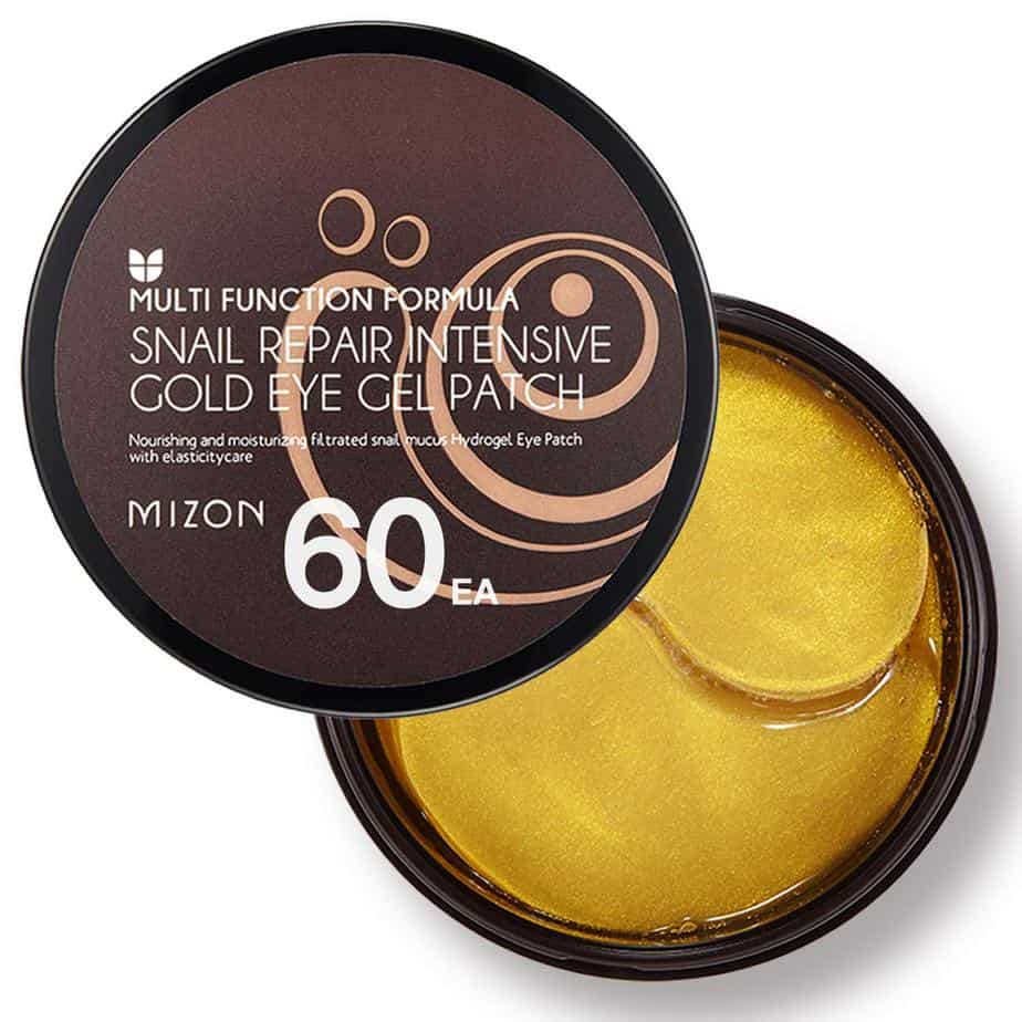 Amazon.com: Mizon Snail Repair Intensive Gold Eye Gel Patch & Black Pearl Eye Gel Patch, Under Eye Collagen Patches Eye Masks with Gold, Snail Extract, and Black Pearl, Eye Gel Treatment for