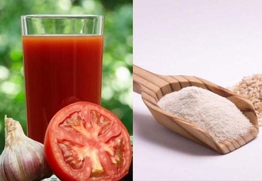 Rice flour with tomato juice and multanimitti