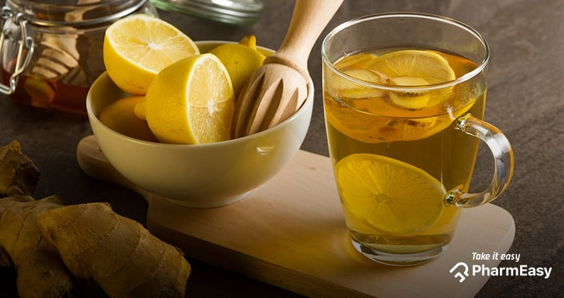 What are the benefits of drinking warm water with honey and lime