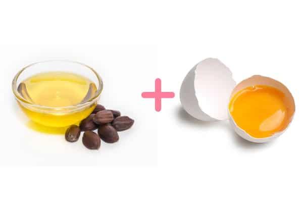 زيت الجوجوبا وصفار البيض لتنظيف فروة الرأس