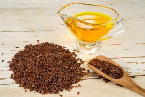 aceite de lino: aceites para nuestro cabello.