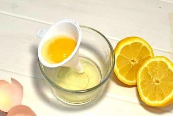 قناع بياض البيض والليمون