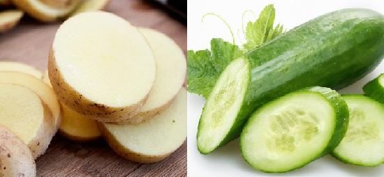 عصير الخيار والبطاطس للهالات السوداء