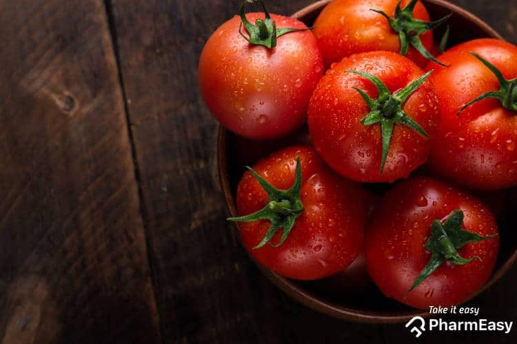 فوائد اكل الطماطم نيئة