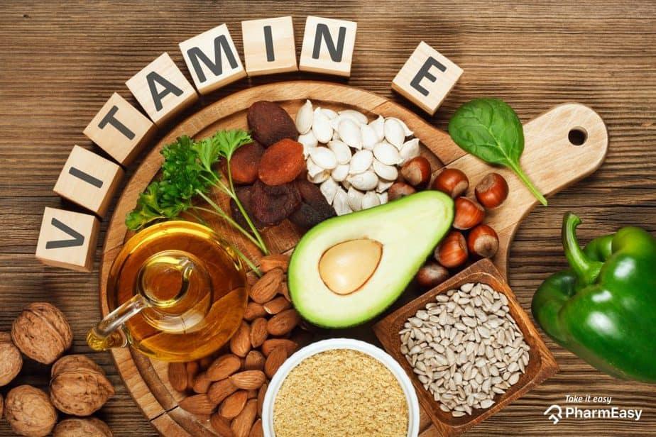 أين يوجد فيتامين E بكثرة